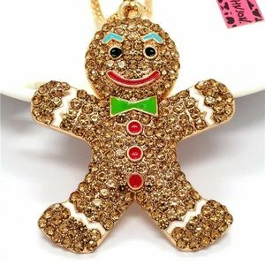 Betsey Johnson Gingerbread Necklace